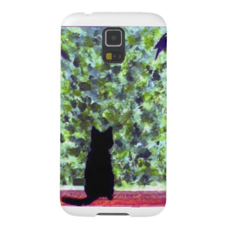 Cat Art Black Cat Bird Watching! Galaxy S5 Case