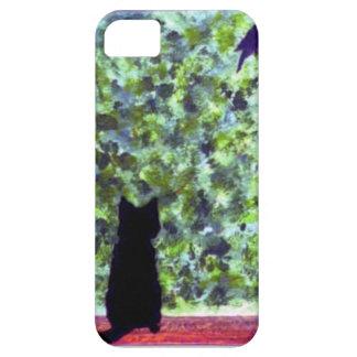 Cat Art Black Cat Bird Watching! iPhone 5 Covers
