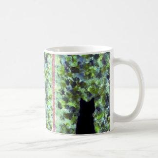Cat Art Black Cat Bird Watching! Basic White Mug