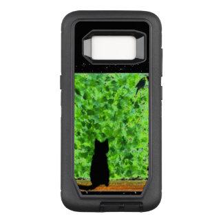 Cat Art Black Cat Bird Watching OtterBox Defender Samsung Galaxy S8 Case