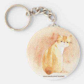 Cat Art Button Keychain