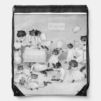Cat Art by Louis Wain 1900 Drawstring Backpacks