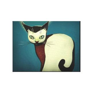 Cat art canvas print