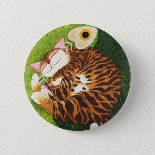 cat art- Perfect Harmony 6 Cm Round Badge
