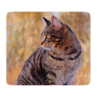 Cat Art Portrait Cutting Board