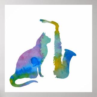 Cat Art Poster
