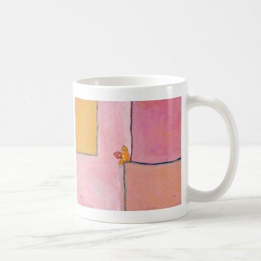 Cat art reading fun - Marmalade Prefers Solitude Coffee Mugs