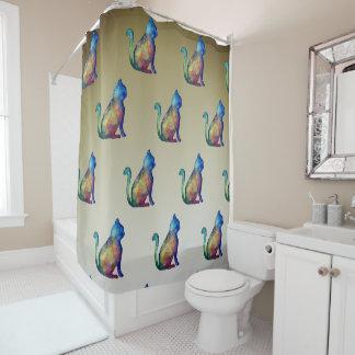 Cat Art Shower Curtain