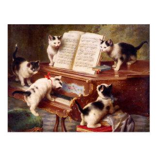 Cat Art The Kitten s Recital Post Card