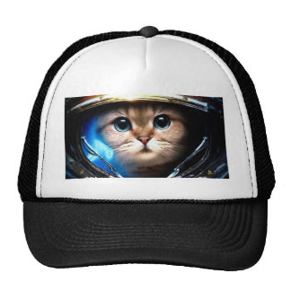 Cat astronaut cap