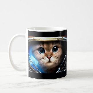 Cat astronaut coffee mug