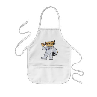 Cat Astronaut Kids Apron