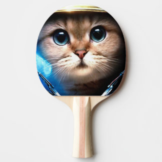 Cat astronaut ping pong paddle
