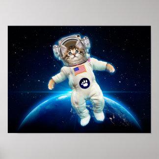 Cat astronaut - space cat - Cat lover Poster