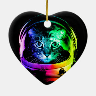 Cat astronaut - space cat - funny cats christmas ornament
