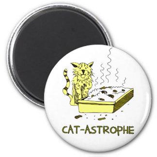 Cat-astrophe 6 Cm Round Magnet