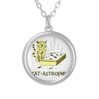 Cat-astrophe Silver Plated Necklace
