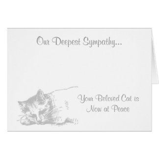 Cat at Peace  Veterinary Sympathy Card