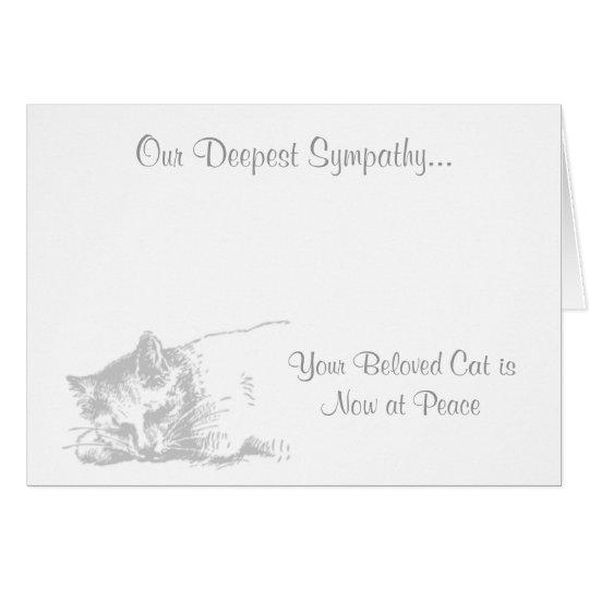 Cat at Peace Veterinary Sympathy Card