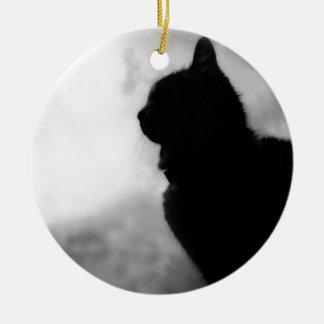 Cat ate Night Feline Animal cap Cat Puss Pussy Christmas Ornament