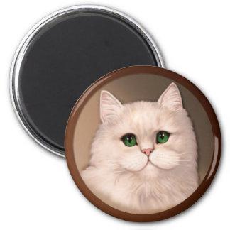Cat Attitude 6 Cm Round Magnet