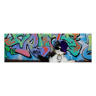 Cat Attitude.....Kitten and Graffiti Wall Pack Of Skinny Business Cards