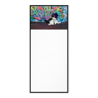 Cat Attitude.....Kitten and Graffiti Wall Custom Rack Cards