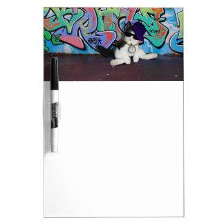 Cat Attitude.....Kitten and Graffiti Wall Dry-Erase Whiteboards