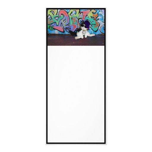 Cat Attitude.....Kitten and Graffiti Wall Personalized Rack Card
