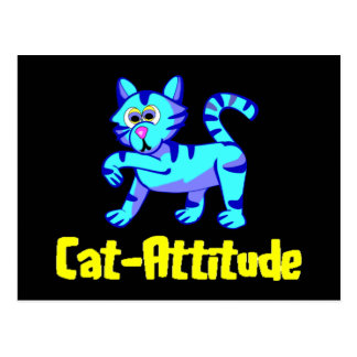 Cat-Attitude Postcard