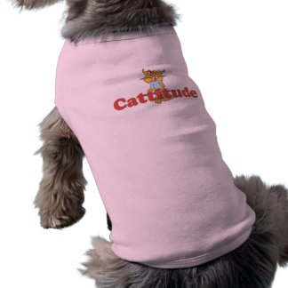 Cat Attitude Sleeveless Dog Shirt