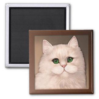 Cat Attitude Square Magnet