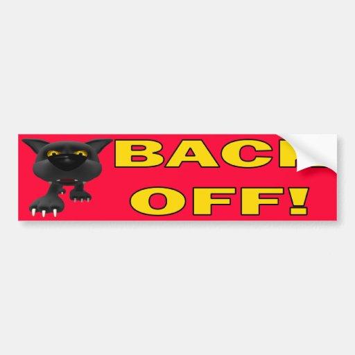 Cat: Back OFF! Bumper Stickers