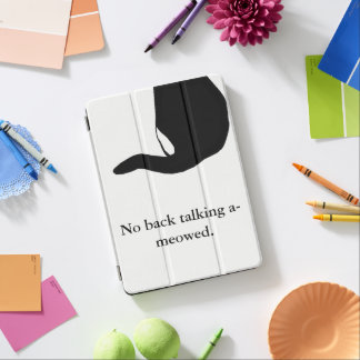 Cat Back Tail-No Back talking Design iPad Pro Cover