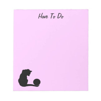 Cat & Ball Notepad