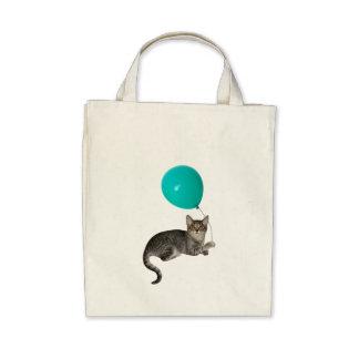 Cat Balloon Tote Bag
