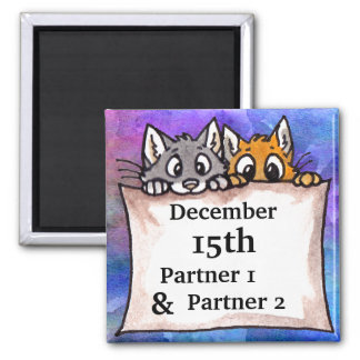 Cat Banner Save the Date Magnet