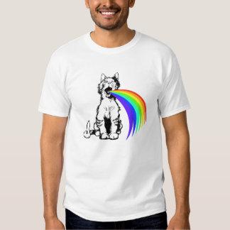 Cat Barfing Rainbow Tee Shirt