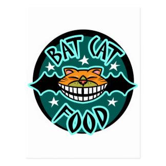 Cat Bat Food Postcard