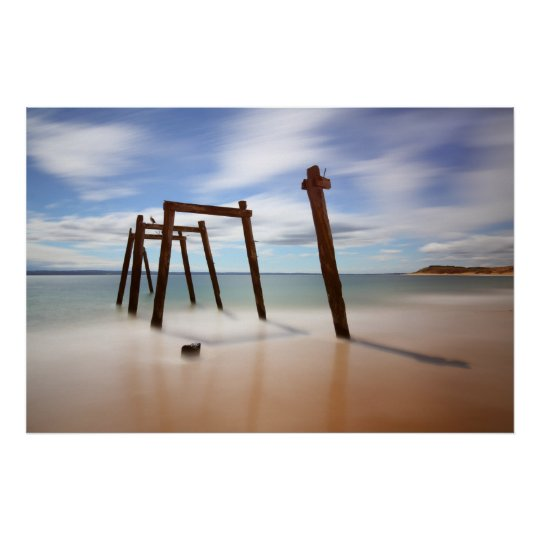 Cat Bay Jetty Remnants Poster