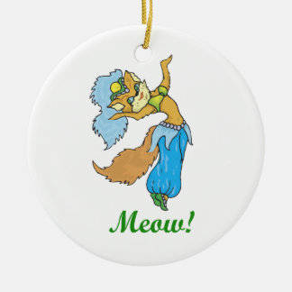 Cat Belly Dancer Christmas Ornaments