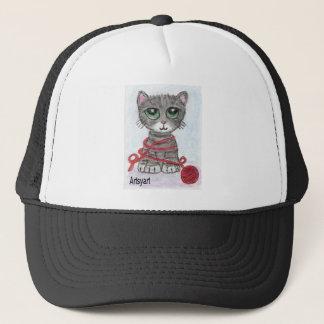 CAT BIG EYES CUTE TRUCKER HAT
