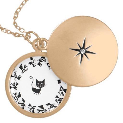 Cat & Bird Circle Custom Jewelry