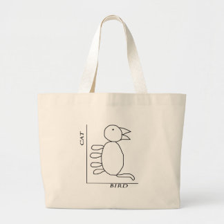 Cat Bird Jumbo Tote Bag