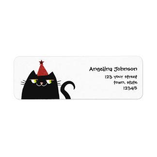 Cat Black Cute Fat Cartoon Funny Party Modern Cool