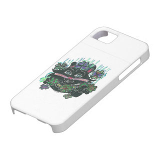 CAT Black in Misty Clover iPhone 5 Covers