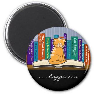 Cat Book Buddy Magnet