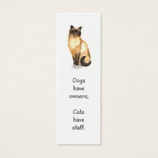 Cat Bookmark Mini Business Card