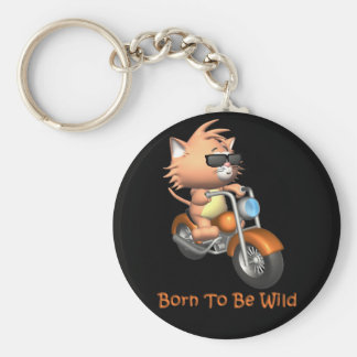 Cat - Born To Be Wild Key Ring