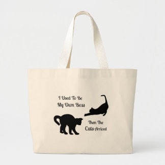 Cat Boss Jumbo Tote Bags Jumbo Tote Bag
